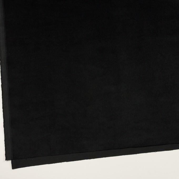 コットン&ポリウレタン×無地(ブラック)×細コーデュロイ・ストレッチ イメージ2