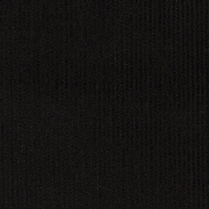 コットン×無地(ブラック)×中細コーデュロイ イメージ1