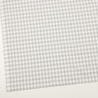 コットン×チェック(ホワイト&ライトグレー)×ビエラ_全4色 サムネイル2