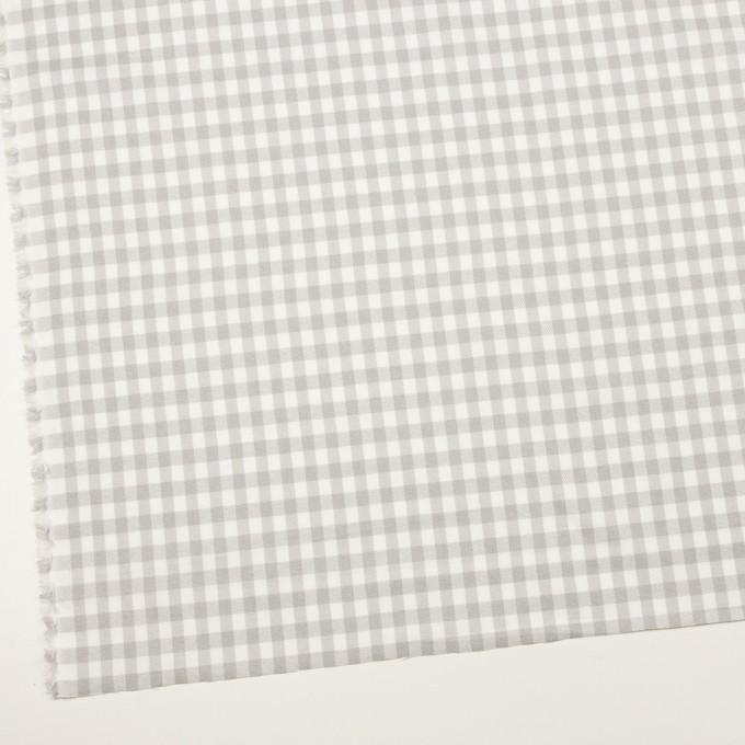 コットン×チェック(ホワイト&ライトグレー)×ビエラ_全4色 イメージ2
