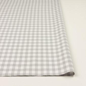 コットン×チェック(ホワイト&ライトグレー)×ビエラ_全4色 サムネイル3