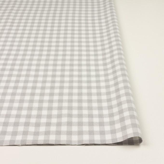 コットン×チェック(ホワイト&ライトグレー)×ビエラ_全4色 イメージ3