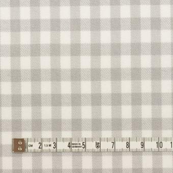 コットン×チェック(ホワイト&ライトグレー)×ビエラ_全4色 サムネイル4