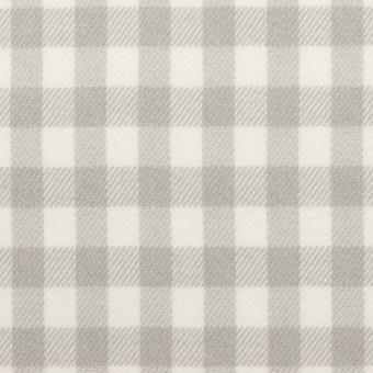 コットン×チェック(ホワイト&ライトグレー)×ビエラ_全4色