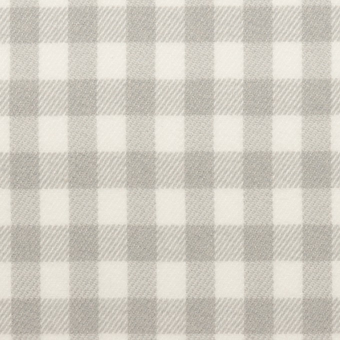 コットン×チェック(ホワイト&ライトグレー)×ビエラ_全4色 イメージ1
