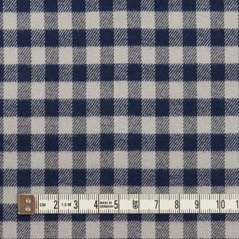 コットン×チェック(ライトグレー&ネイビー)×ビエラ_全4色 サムネイル4