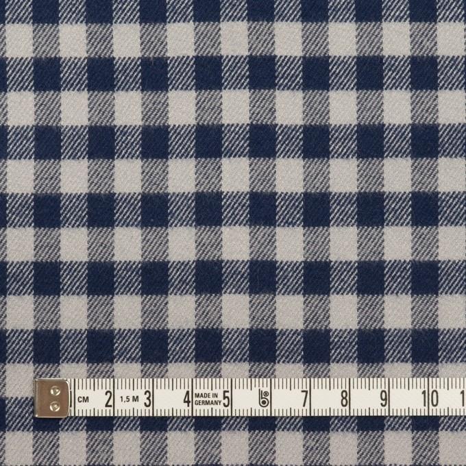 コットン×チェック(ライトグレー&ネイビー)×ビエラ_全4色 イメージ4