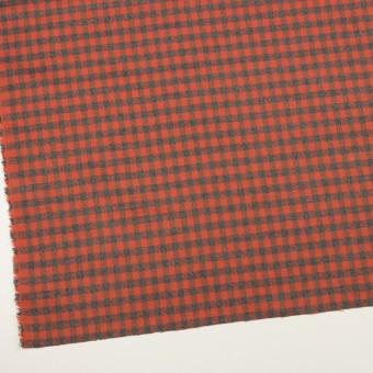 コットン×チェック(オレンジレッド&チャコールグレー)×ビエラ_全4色 サムネイル2