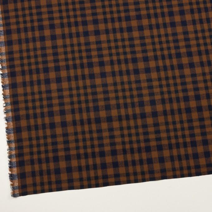 コットン×チェック(ブラウン&ネイビー)×ビエラ イメージ2