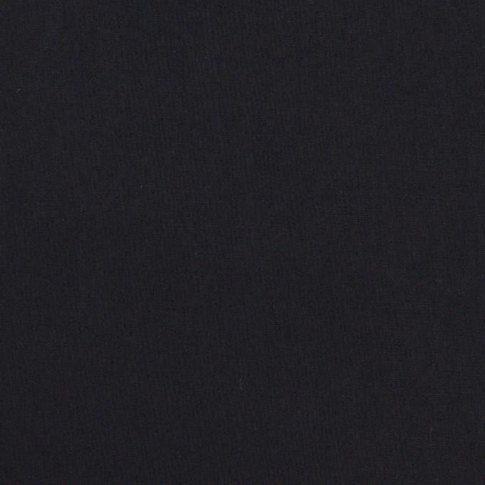 コットン&ポリウレタン×無地(ダークネイビー)×ローンストレッチ イメージ1