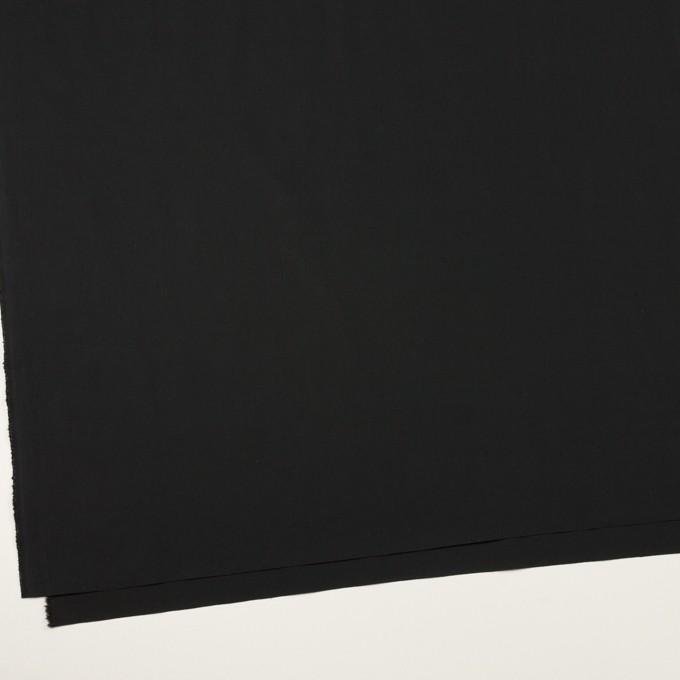 コットン&ポリウレタン×無地(ブラック)×ローンストレッチ イメージ2