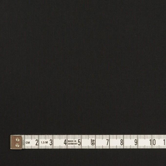 コットン&ポリウレタン×無地(ブラック)×ローンストレッチ イメージ4