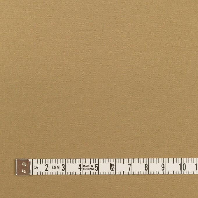 コットン&ポリウレタン×無地(カーキ)×サテンストレッチ イメージ4