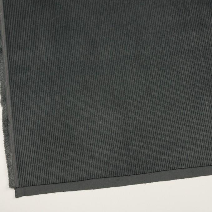 コットン×無地(スチールグレー)×中太コーデュロイ イメージ2