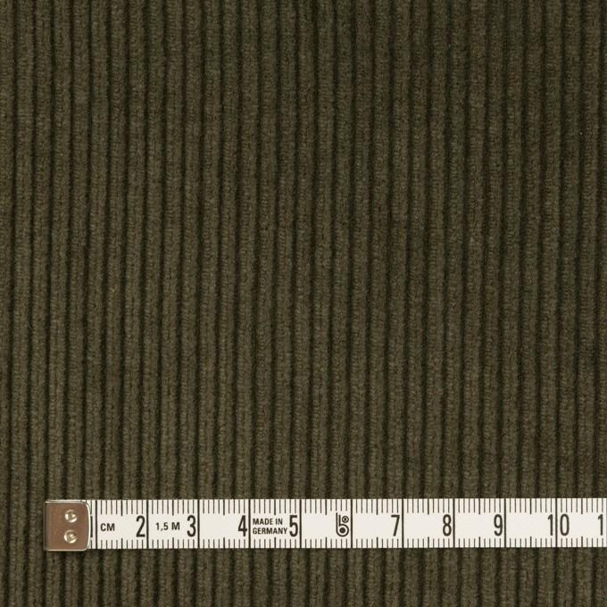 コットン×無地(ダークカーキグリーン)×中太コーデュロイ イメージ4