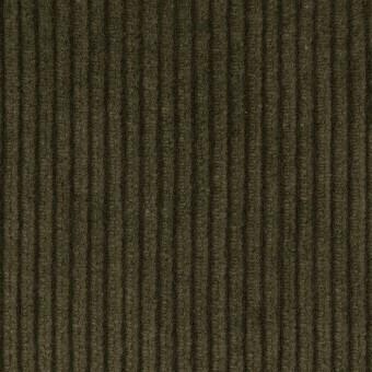 コットン×無地(ダークカーキグリーン)×中太コーデュロイ