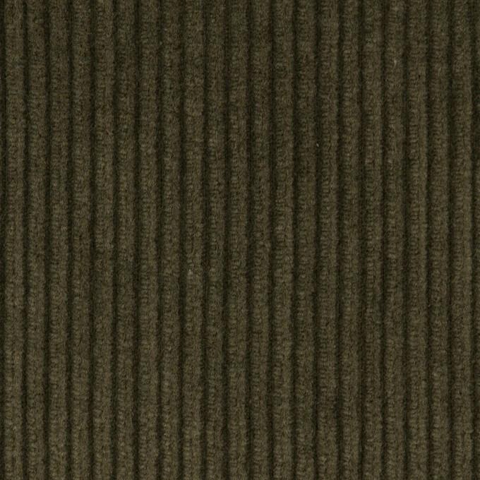 コットン×無地(ダークカーキグリーン)×中太コーデュロイ イメージ1