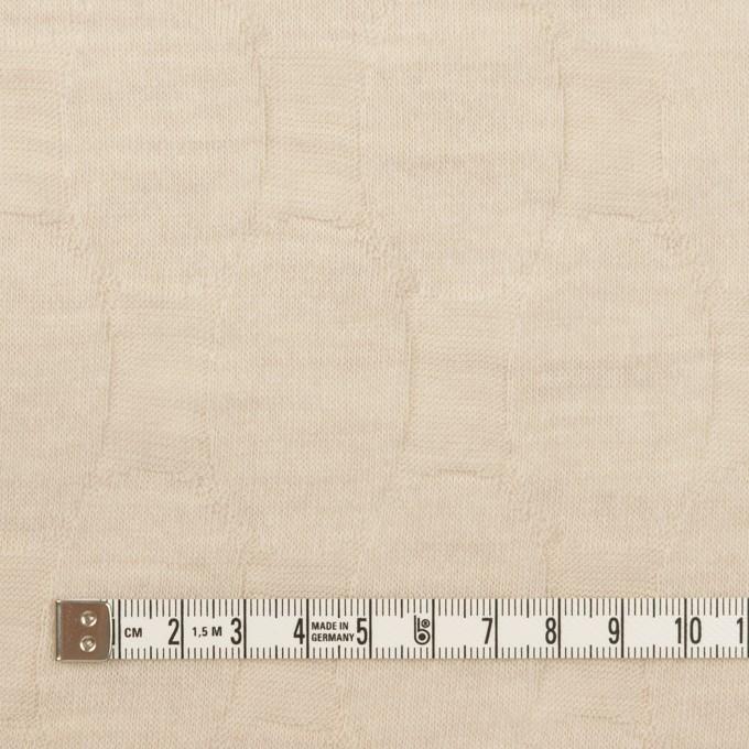 ウール&ナイロン×オーバル(ライトベージュ)×ジャガードニット イメージ4