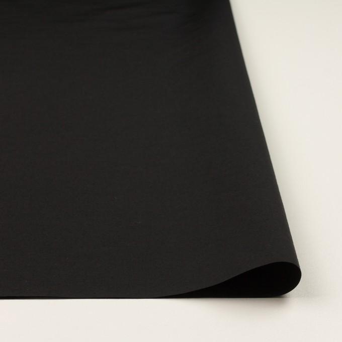 コットン&ナイロン×無地(ブラック)×タッサーポプリン_全2色 イメージ3