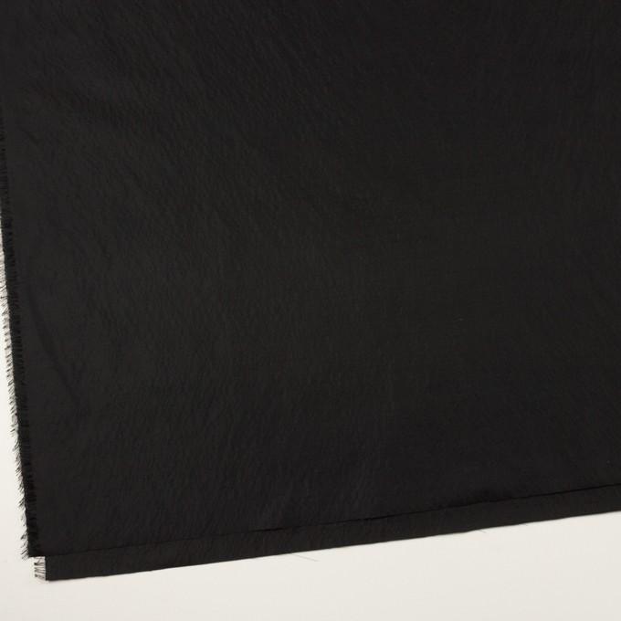 シルク&ポリエステル×無地(ブラック)×形状記憶タフタ イメージ2