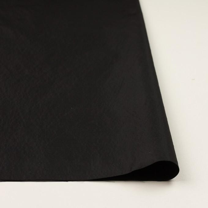 シルク&ポリエステル×無地(ブラック)×形状記憶タフタ イメージ3