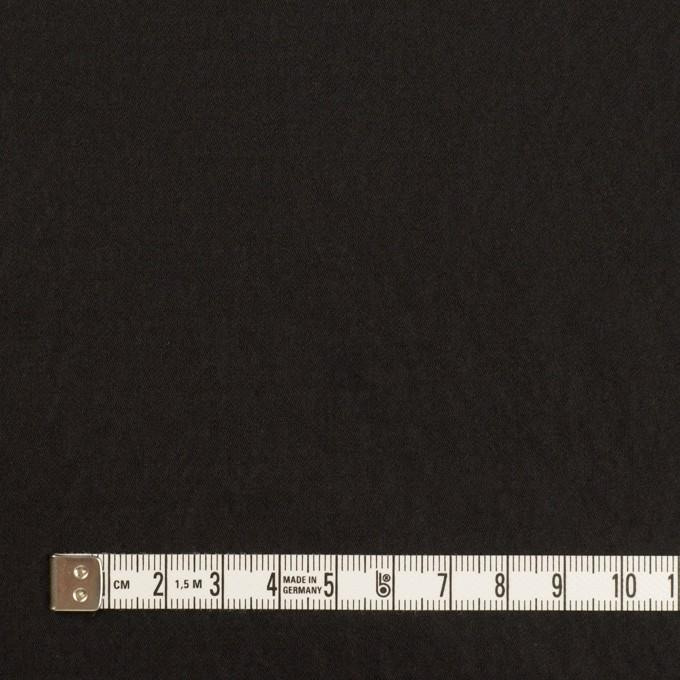 シルク&ポリエステル×無地(ブラック)×形状記憶タフタ イメージ4