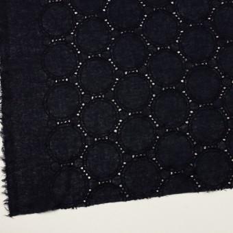ウール×サークル(ダークネイビー)×ガーゼ刺繍 サムネイル2