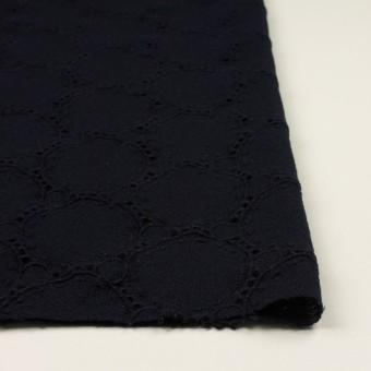 ウール×サークル(ダークネイビー)×ガーゼ刺繍 サムネイル3
