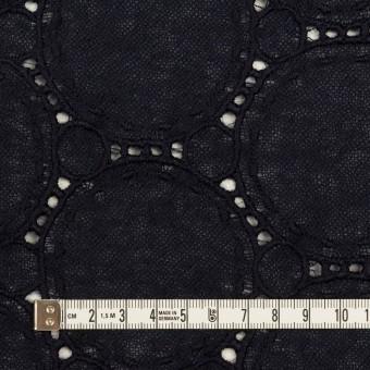 ウール×サークル(ダークネイビー)×ガーゼ刺繍 サムネイル4