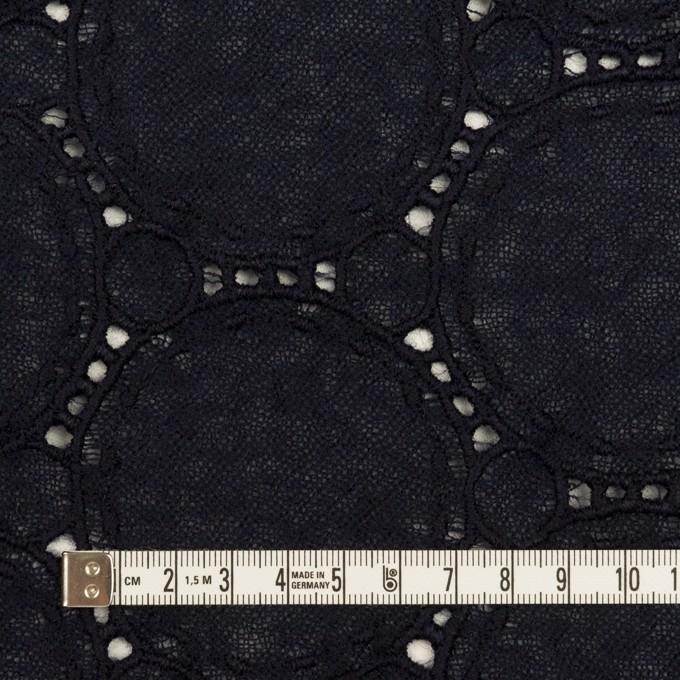 ウール×サークル(ダークネイビー)×ガーゼ刺繍 イメージ4