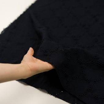 ウール×サークル(ダークネイビー)×ガーゼ刺繍 サムネイル5