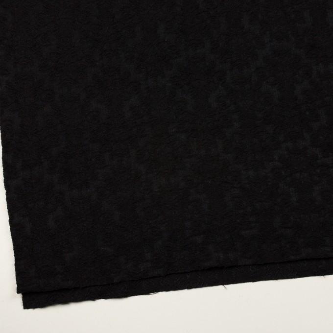 ウール×幾何学模様(ブラック)×ジャガード イメージ2
