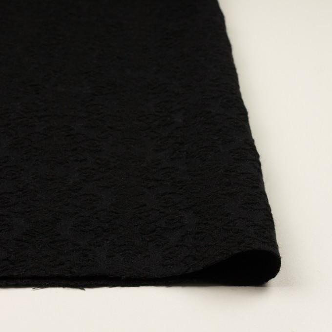 ウール×幾何学模様(ブラック)×ジャガード イメージ3