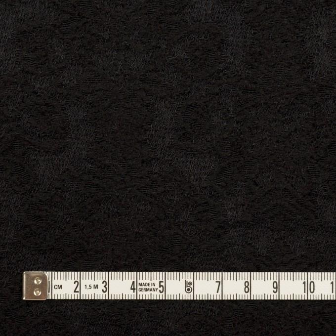 ウール×幾何学模様(ブラック)×ジャガード イメージ4