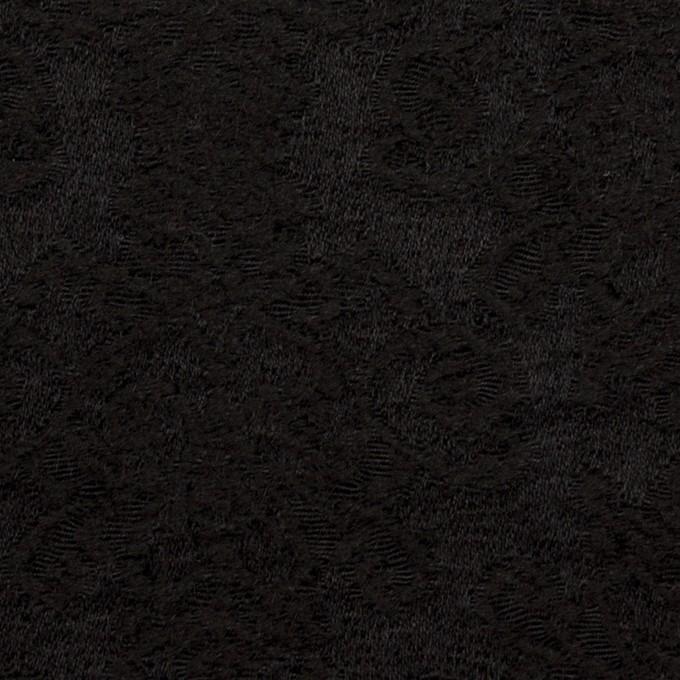 ウール×幾何学模様(ブラック)×ジャガード イメージ1