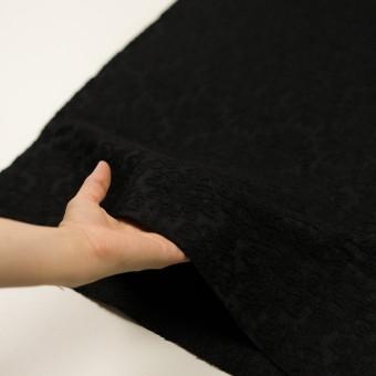 ウール×幾何学模様(ブラック)×ジャガード サムネイル5