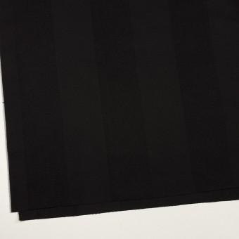 ウール&シルク×ストライプ(ブラック)×サージ サムネイル2