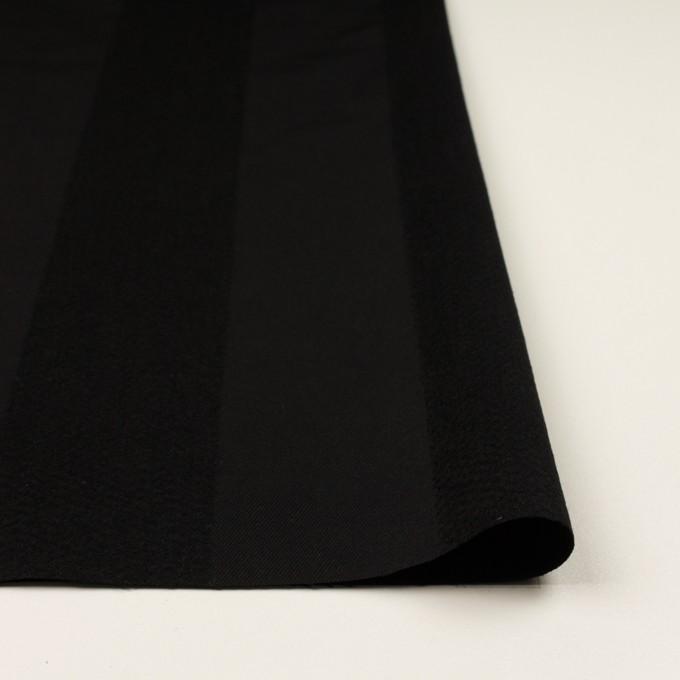 ウール&シルク×ストライプ(ブラック)×サージ イメージ3