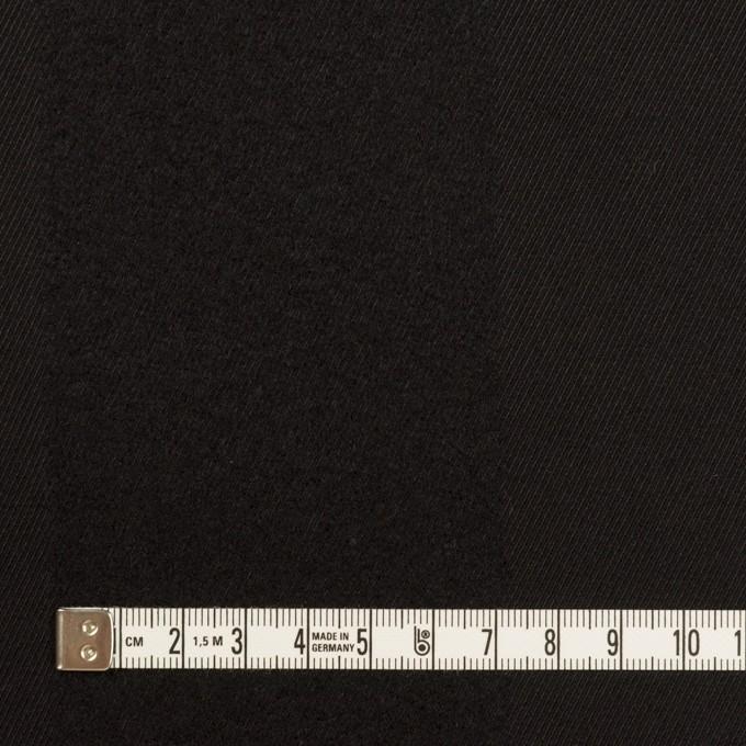 ウール&シルク×ストライプ(ブラック)×サージ イメージ4