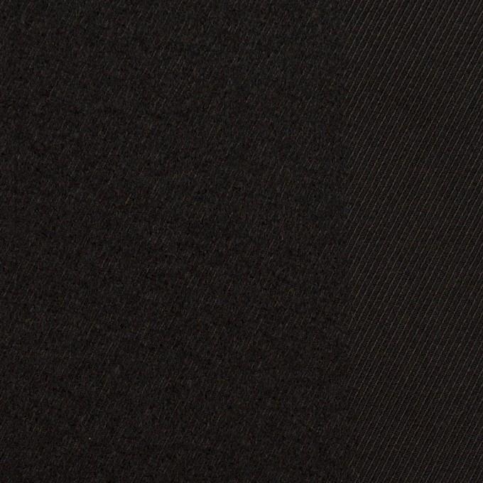 ウール&シルク×ストライプ(ブラック)×サージ イメージ1