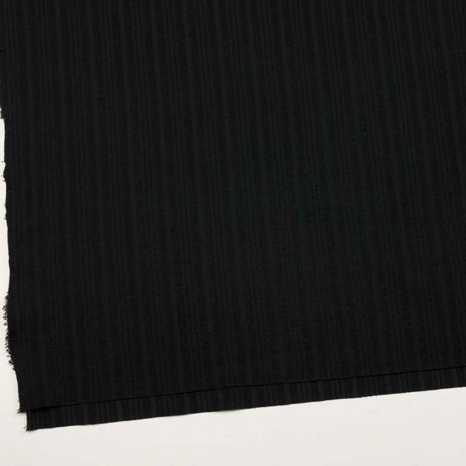 コットン×ストライプ(ブラック)×ボイルジャガード イメージ2