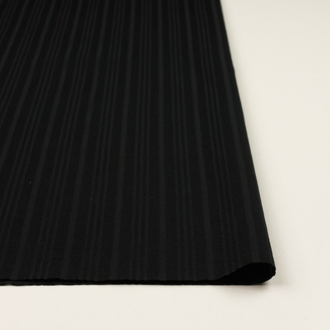 コットン×ストライプ(ブラック)×ボイルジャガード イメージ3