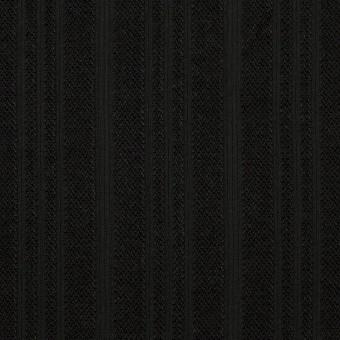 コットン×ストライプ(ブラック)×ボイルジャガード