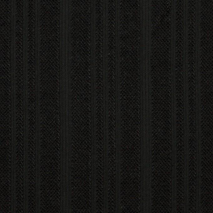 コットン×ストライプ(ブラック)×ボイルジャガード イメージ1