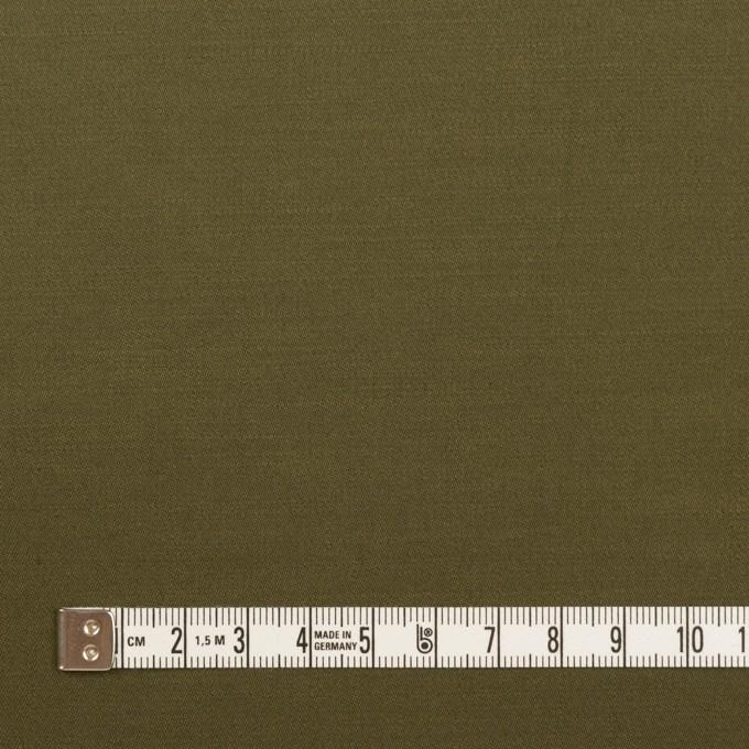コットン×無地(ダークカーキグリーン)×サテン イメージ4