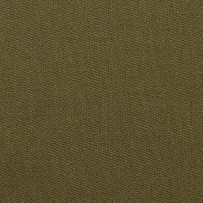 コットン×無地(ダークカーキグリーン)×サテン イメージ1