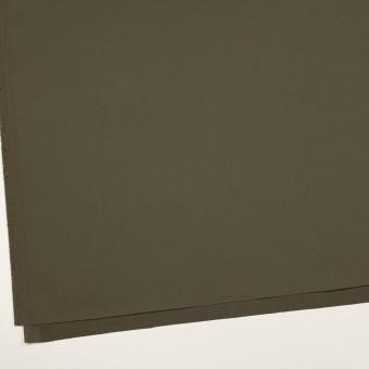 コットン&ポリウレタン×無地(ダークカーキグリーン)×二重織 サムネイル2