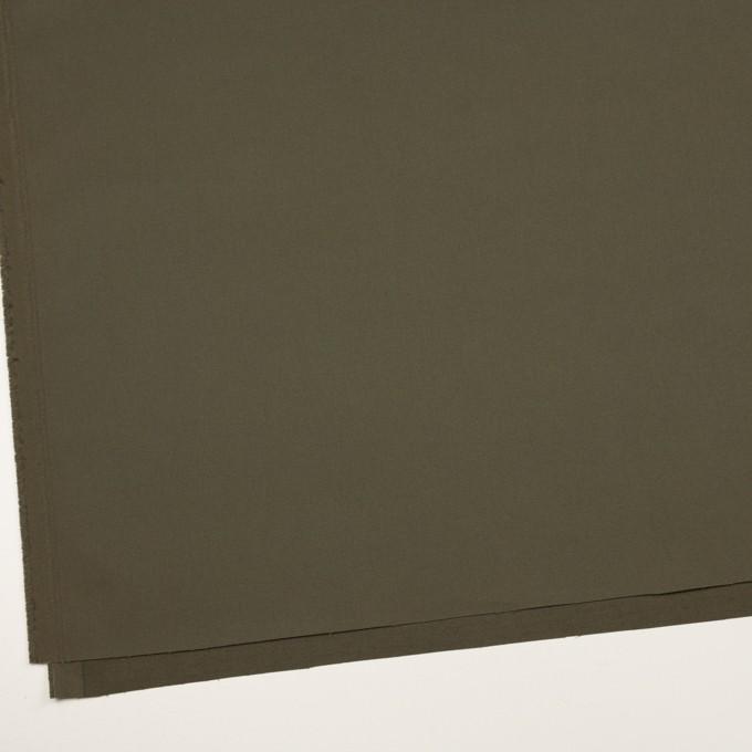 コットン&ポリウレタン×無地(ダークカーキグリーン)×二重織 イメージ2