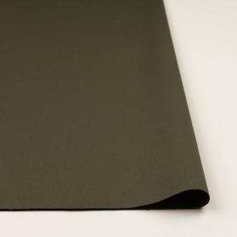 コットン&ポリウレタン×無地(ダークカーキグリーン)×二重織 サムネイル3