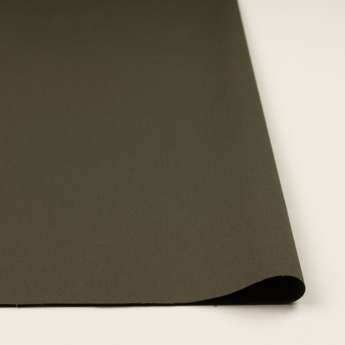 コットン&ポリウレタン×無地(ダークカーキグリーン)×二重織 イメージ3